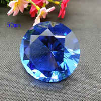 Free shipping+ high quality machine made blue crystal diamond paperweight  for valentine's Day,souvenir day, wedding decoration