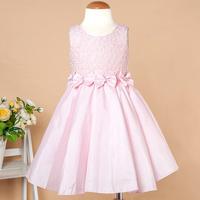 2014 Summer Pink Children's Clothing Kids Wedding Dress Child Performances Party Dress For Girls Kids