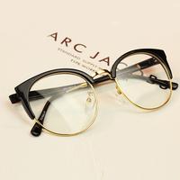 big brand computer glasses frame men fashion alloy eye glasses women clear lens myopia glasses free shipping,oculos de grau.C14