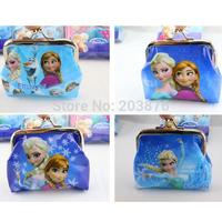 New designs Children Frozen colors coin purses wallet Material PVC woman Coin Purses gift