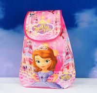 12 pcs/lot Children Cartoon Sofia Dora Hello Kitty School bags/girls Strawberry girl  Tinker Bell princess Drawstring Backpack