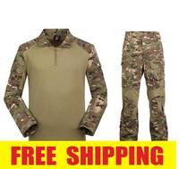 2014 New Arrival Men 4 Color Airsoft army military uniform tactical camouflage BDU USMC  frog suit (jacket+pant)  Size S-XXL