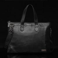 New 2014 Free Shipping High Quality Cross Body Genuine Leather Men Messenger Bags Handbags  2012-13