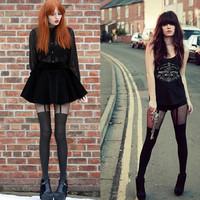 Trendy Sexy Women Girls Temptation Sheer Mock Suspender Tights Pantyhose Stockings