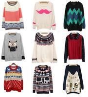 Hitz 2014 Korean lovely girl students loaded Harajuku loose Crewneck Pullover women sweater