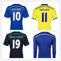 Thai quality Chelsea 2015 Jersey DROGBA FABREGAS DIEGO COSTA HAZARD MATIC OSCAR SCHURRLE Chelsea 14 15 Man&Women Jersey&Shorts