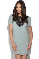 2014 Summer Women Clothing Short Sleeve Silk Straight Dress Sexy Embroidery Print Casual Dress Plus Size XXL Women's Dress Y029