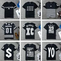 Tide brand in West Coast hip-hop street HBA digital short sleeve men women T shirt Printed T-shirts men's short sleeves tee