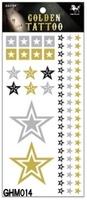 1lot=5pcs Gold Stamp waterproof tattoo stickers Size 24.5*10.5 cm tatoo stickers Sex products