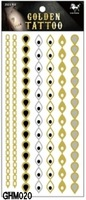 5pcs Large Size Gold temporary tattoo new 2014 best designs sexy fashion temporary stickers waterproof tatoo free shippiing