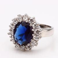 Hot Sale Promotion Platinum Plated Ring Luxury Designer Jewelry Vintage Infinity Wedding Ring Women Elegant