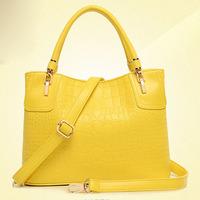 2014 new style crocodile grain big women handbag shoulder bag fashion female crossbody bag women messenger bags hot ladies tote