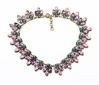latest fashion women jewelry accessories retro vintage metal statement  necklace