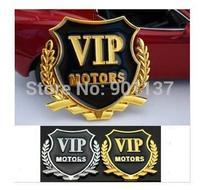 promotion 2pcs/lot vip car sticker for car window door and car hood logo sticker side mark car accessories drop shipping DM005
