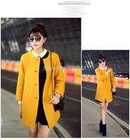 2014 fall fashion  women's winter clothing Woollen Coat british style abrigos mujer casual manteau femme Wool jakets