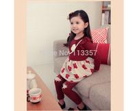 2014 spring flower girls clothing child long-sleeve dress qz-1198 girls dress fashion cotton dress kid's clothes