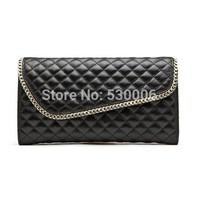 4 Colors Genuine Leather Plaid Pattern Chain Fashion Women Shoulder Messenger Bags Lady classic Evening Clutch Bag Party bolsas