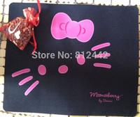FREE SHIPPING Rectangular Hot Japanese Style Creative Product Kawaii Black Animal Print  Hello Kitty Mouse Pad Novelty Mousepad