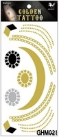 5pcs Temporary tattoo Sticker Gold Stamping Waterproof body painting tatoo stickers new free shipping