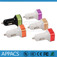 Wholesale 2.1A high output cellphone car charger dual usb for ipad/iphone/tablets