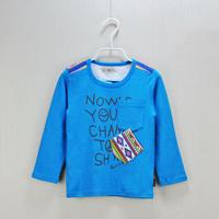 Dear Baby Brand 2014 NEW Autumn Spring Children Kids Boy Tee Shirt Long Sleeve Letter Clothes Children T-shirts Girls Tops 2~5T