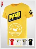 SteelSeries Natus Vincere Navi game team jersey T Shirts game dota2 navi cotton o-neck short-sleeve Natus Vincere gaming t shirt