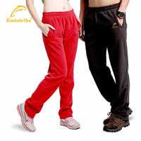 Outdoor Unisex Polar Fleece Sweatpants Men's Elastic Waistband Trousers Women Thicken Warm Pant Thermal Running Winter S-XXL