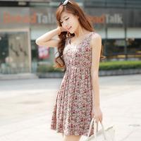 Fantastic Women Slim Floral Print Sleeveless Casual Summer Sexy Mini Dress Feida