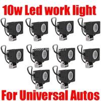 10pcs CREE 10W 12V-24V Led work Light Bar Spot Flood Fog Lamp Motorcycle Bicycle 4x4 4WD ATV UTV Offroad Truck Driving Headlight