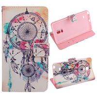 Fantastic Dream Catcher Campanula Leather Cover Case for Samsung Galaxy Note 4 Feida
