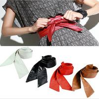 Min.order is $5(mix order) Hot Sale Euro Fashion Lady Bowknot Bind Wide Belt Cummerbund Women Belt Black Red Beige Color 80709