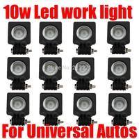 12x 10W CREE LED Worklight Offroad lights 12v-24v Spot/Flood Universal Autos light bar Fog lamp 4x4 ATV UTV Truck Tractor SUV