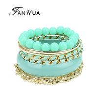 Beads Bracelets Set for Women Black Orange Green Color Bangles from India  Wholesale