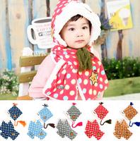 (1set=2pcs) 5sets/lot baby fur hat with scarf winter cap&shawl 2pcs set children headwear Free shipping