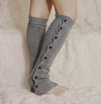 2014 Retail leg warmers for Женщины Кнопка Down Boot Cuffs trim gaiters Boot Socks ...