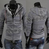Vogue Men Boy Long Sleeve Hoodie Sweater Zipper Slim Cardigan Hoodie Outerwear NEW