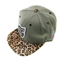 2014 HOT sale Raiders Leopard brim adjustable outdoor baseball cap snapback hip-hop hat shutter cap gray
