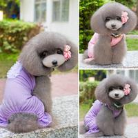 Lovely Puppy Pet Cat Dog Pajamas Shirt Lace Sling Cotton Jumpsuit Clothes