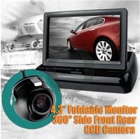 "4.3"" car HD Fold Monitor  best Parking Kit 360"" Rotation reverse back Camera Night Vision"