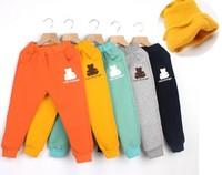New Winter Children Sport Pants Thick Fleece Plush Boys Girls Warm Trousers Casual Kids Trunks Long Pants Bottoms