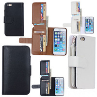 "Leather Wallet Flip Magnetic Pouch Cover Case For iPhone 6 Plus 5.5"" Inch"