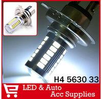 2X Auto 5630 33SMD H4 9003 HB2 LED White Car Fog Daytime Driving Light Lamp Bulb