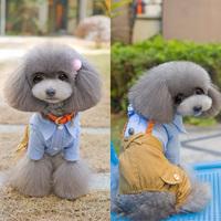 Pet Teddy Dog Clothes Suit Tuxedo Bow Overalls Puppy Jumpsuit Coat Jacket Outfit