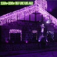 Wholesale 6m*1m 260LEDs lights flashing lane LED String lamps curtain icicle Christmas home garden festival lights 110v-220v