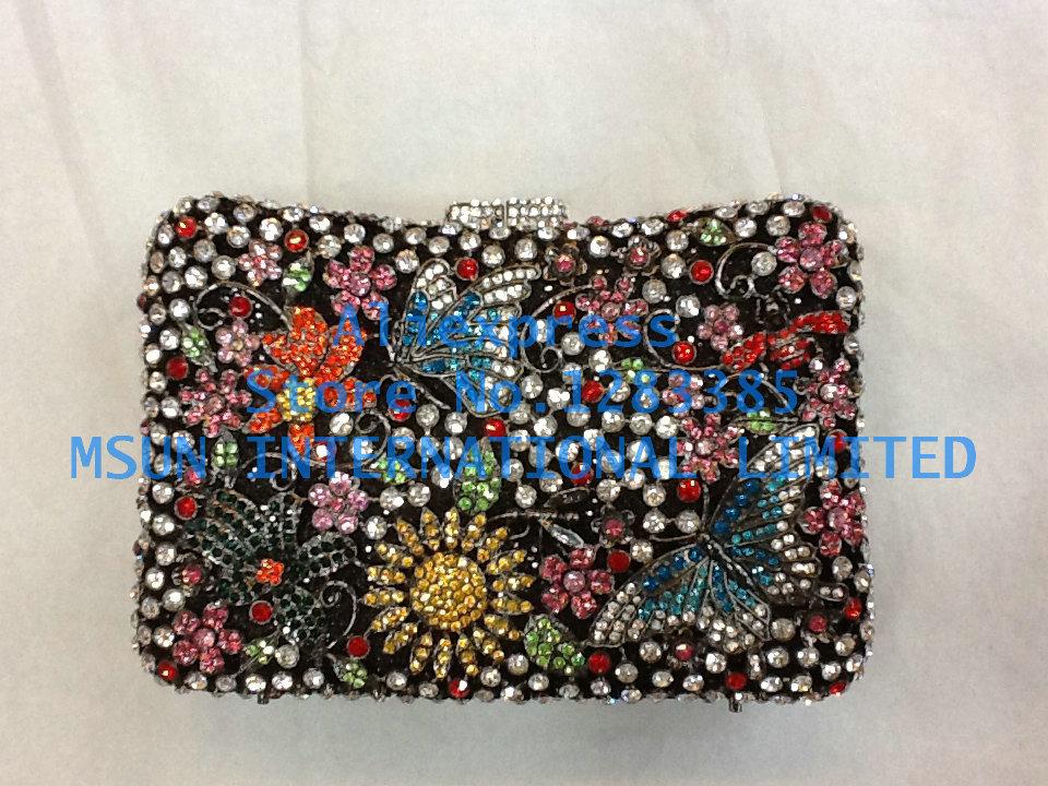 3colors Buterfly Garden Hollow Out Party Wedding Hard Case Crystal Evening Bags Handbags Clutch Purse Bag Women Handbag Bolsas(China (Mainland))
