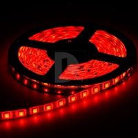 SMD 12V Flexible light 60 LED/M 5050 Waterproof  LED strip tape 12V DC Red 017668 Free Shipping