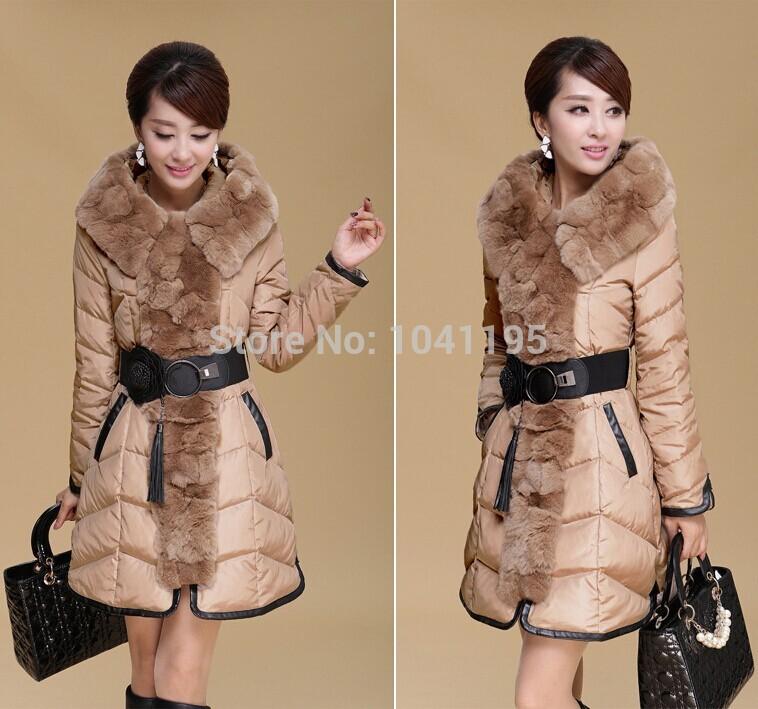 2014 new design fashion ladies long coat winter down jackets women,women's winter coat jacket women coat clothes fur Down Parka(China (Mainland))