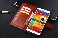 5Color New Arrival PU Leather Wallet Case for Samsung Galaxy Note 3 N9000,Stand Flip Thin Card Holder Cover Phone Bag Luxury