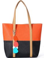 Fashion 2014 new Arrival fall fringed shoulder bags peach female heart bag fresh women handbag SJ-30
