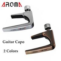 New Arrivel Guitar Capo Clamp Aroma AC-11 Guitar Capo Zinc Alloy for Acoustic Electric Guitars Unique Silver/Bronze